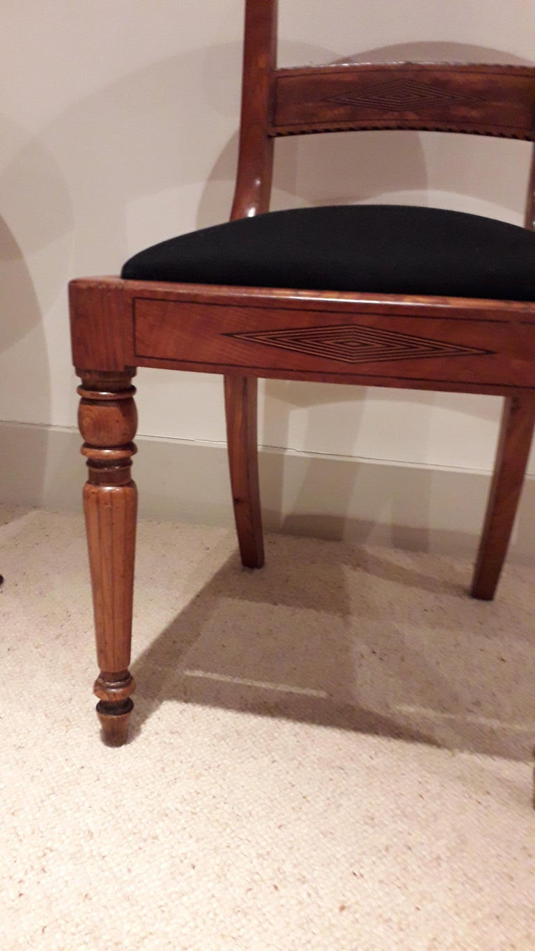 Set of Four Regency Chairs in Ash Timber In Good Condition For Sale In Cranbrook, Kent