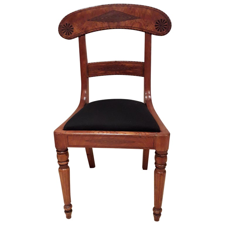 Set of Four Regency Chairs in Ash Timber For Sale