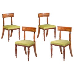 Set of Four Regency Dining Chairs, English, 1815