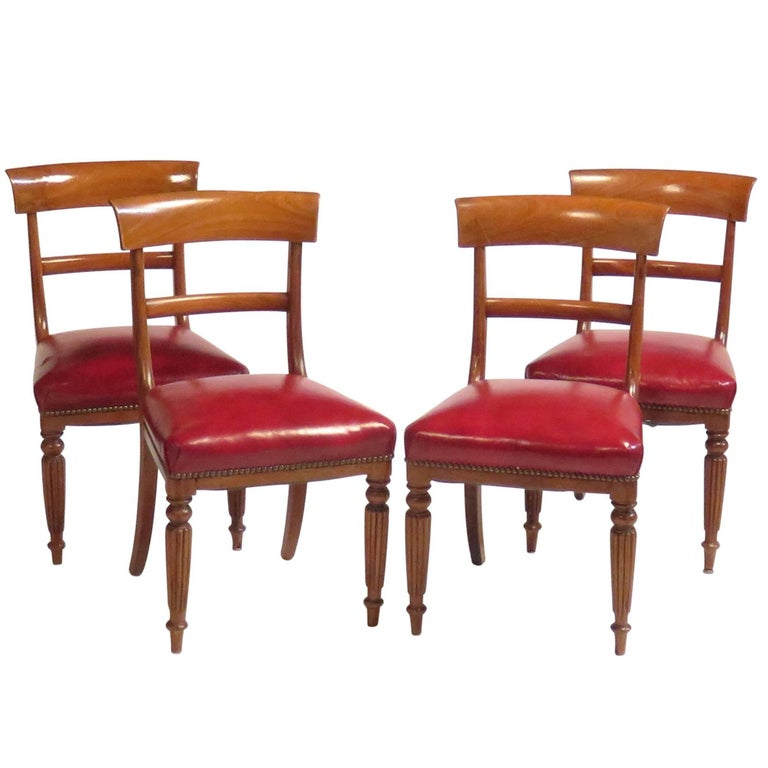 Set of Four Regency Side Chairs, circa 1820