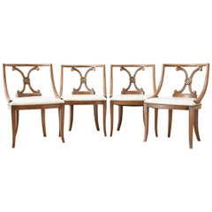 Set of Four Renzo Rutili Leather Dining Chairs