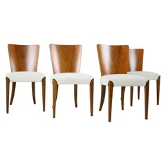 Set of Four Restored Dining Chairs Model H-214 Designed by Jindřich Halabala, 19