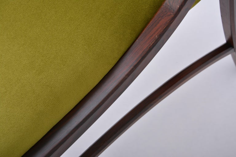 Set of four Mid-Century Modern Green reupholstered Dining Chairs by Ico Parisi  For Sale 14