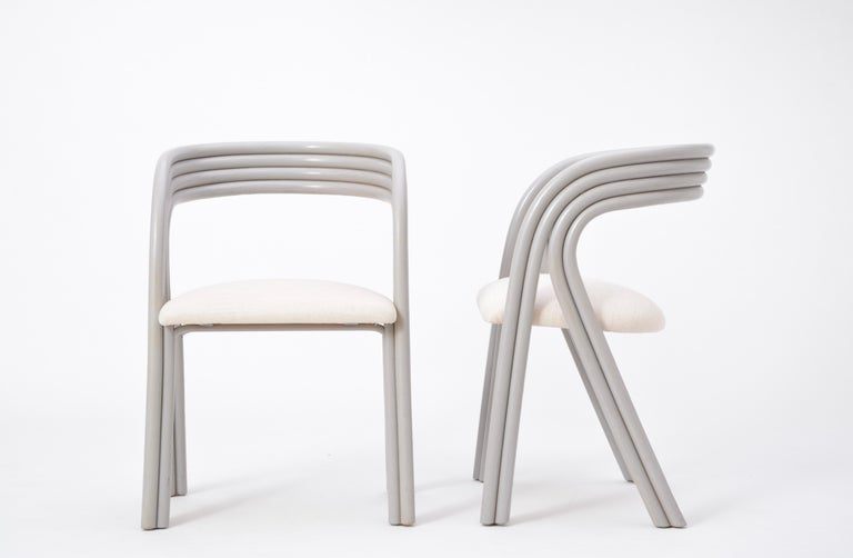 Set of Four Reupholstered Dutch Dining Chairs by Axel Enthoven for Rohé 9