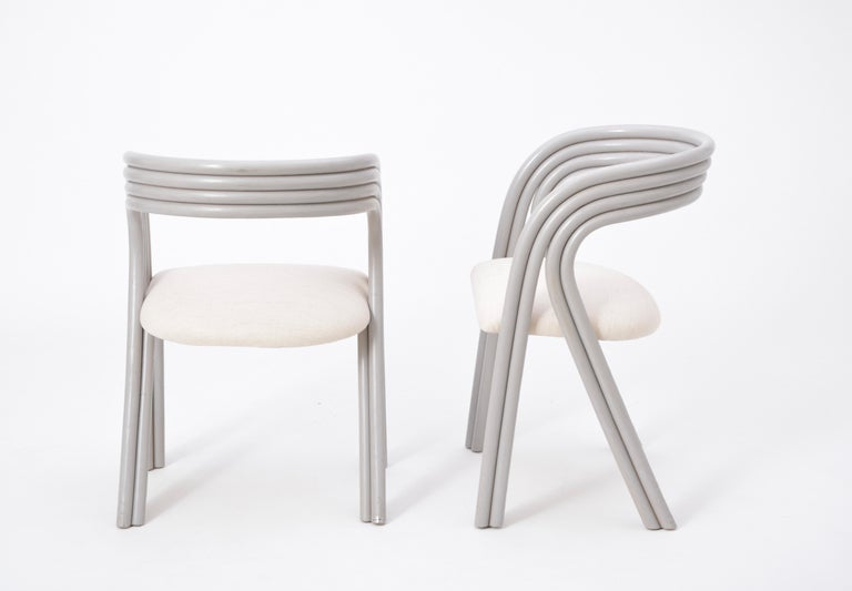Set of Four Reupholstered Dutch Dining Chairs by Axel Enthoven for Rohé 11