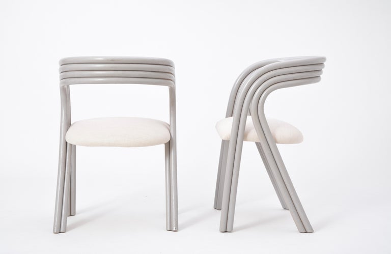 Set of Four Reupholstered Dutch Dining Chairs by Axel Enthoven for Rohé 12