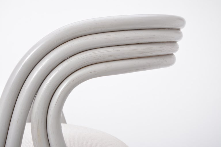 Set of Four Reupholstered Dutch Dining Chairs by Axel Enthoven for Rohé 14