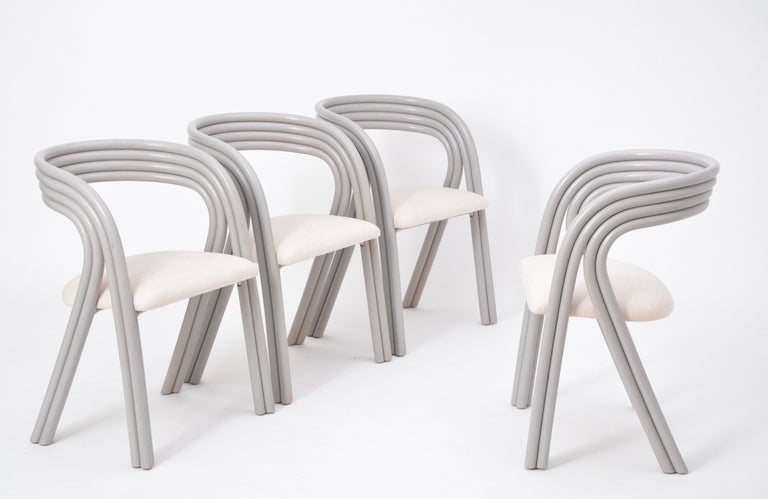 Set of Four Reupholstered Dutch Dining Chairs by Axel Enthoven for Rohé 2