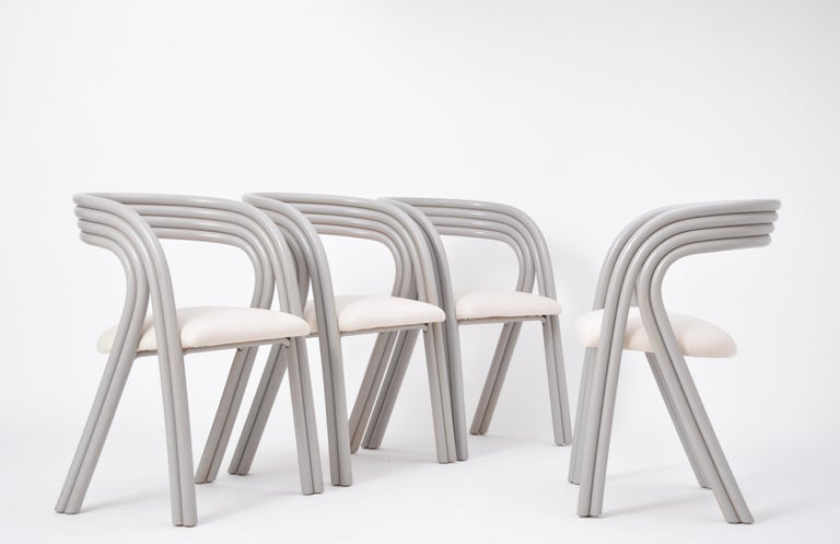 Set of Four Reupholstered Dutch Dining Chairs by Axel Enthoven for Rohé 3