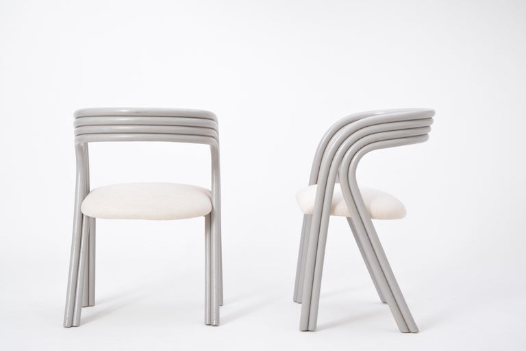 Set of Four Reupholstered Dutch Dining Chairs by Axel Enthoven for Rohé 4