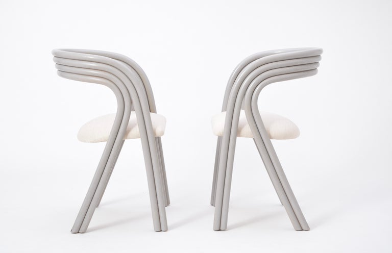 Set of Four Reupholstered Dutch Dining Chairs by Axel Enthoven for Rohé 5
