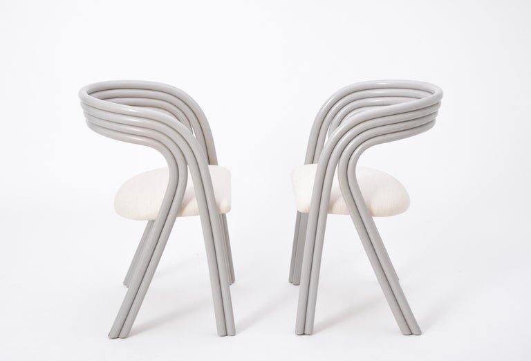 Set of Four Reupholstered Dutch Dining Chairs by Axel Enthoven for Rohé 6