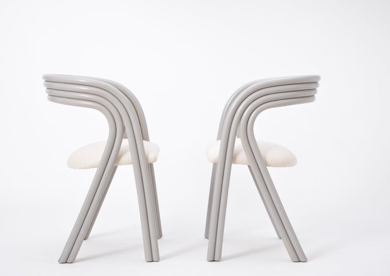 Set of Four Reupholstered Dutch Dining Chairs by Axel Enthoven for Rohé 7