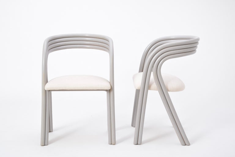Set of Four Reupholstered Dutch Dining Chairs by Axel Enthoven for Rohé 8