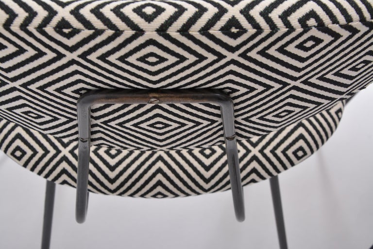 Set of Four Reupholstered Mid-Century Modern Dining Chairs by Rudolf Wolf For Sale 6