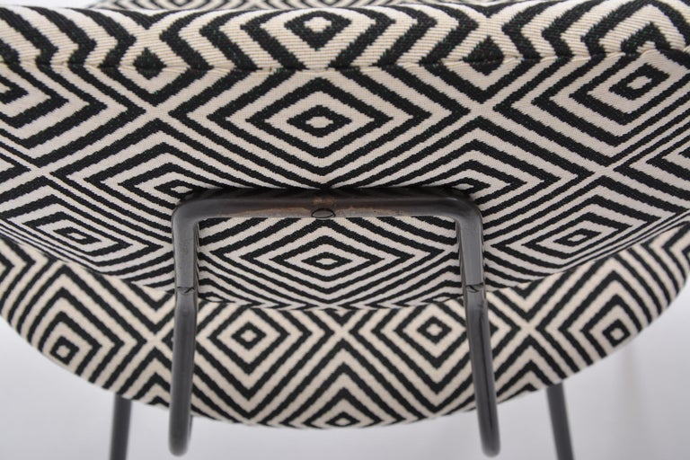 Set of Four Reupholstered Mid-Century Modern Dining Chairs by Rudolf Wolf For Sale 7
