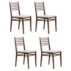 Set of Four Rosewood Chairs Model 4015 by Geraldo de Barros, Unilabor, 1960