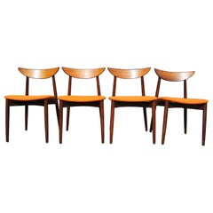 Set of Four Rosewood Dining Chairs by Harry Østergaard