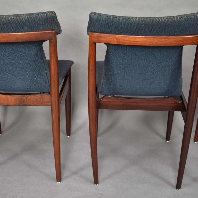 Set of Four Rosewood Dining Chairs by Inger Klingenberg for Fristho, circa 1960 For Sale 3