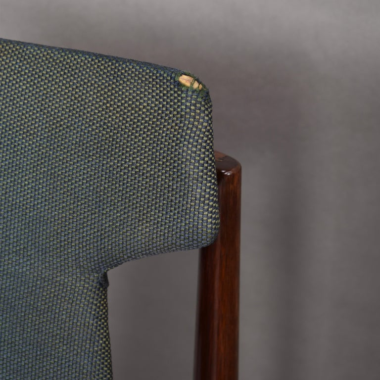 Set of Four Rosewood Dining Chairs by Inger Klingenberg for Fristho, circa 1960 For Sale 6