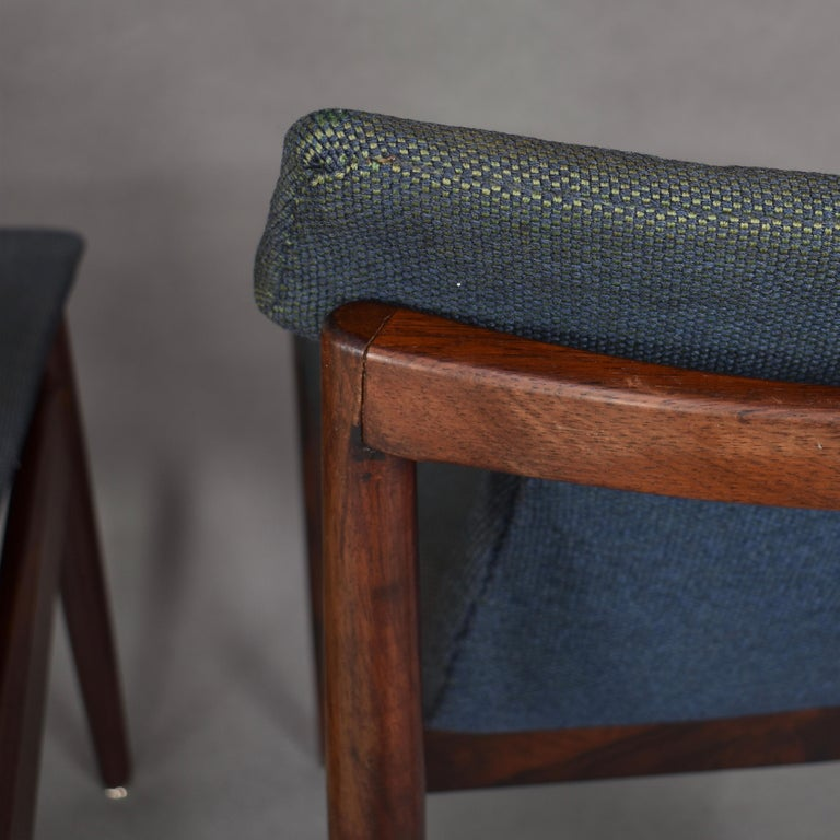 Set of Four Rosewood Dining Chairs by Inger Klingenberg for Fristho, circa 1960 For Sale 8