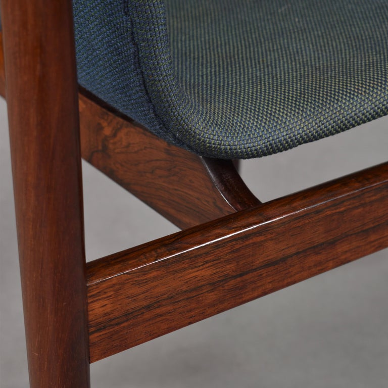 Set of Four Rosewood Dining Chairs by Inger Klingenberg for Fristho, circa 1960 For Sale 10
