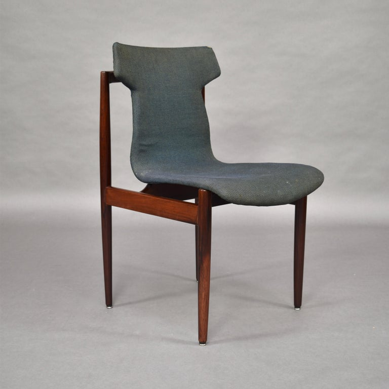 Mid-20th Century Set of Four Rosewood Dining Chairs by Inger Klingenberg for Fristho, circa 1960 For Sale