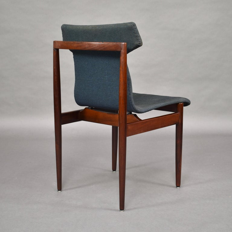 Set of Four Rosewood Dining Chairs by Inger Klingenberg for Fristho, circa 1960 For Sale 1
