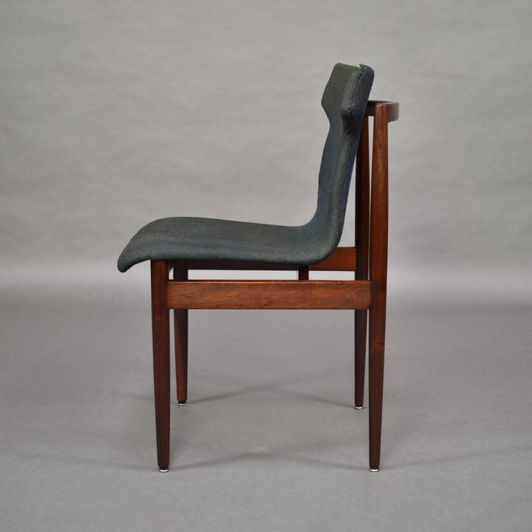 Set of Four Rosewood Dining Chairs by Inger Klingenberg for Fristho, circa 1960 For Sale 2