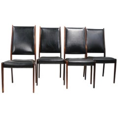 Set of Four Rosewood Dining Chairs by Johannes Andersen for Mogens Kold