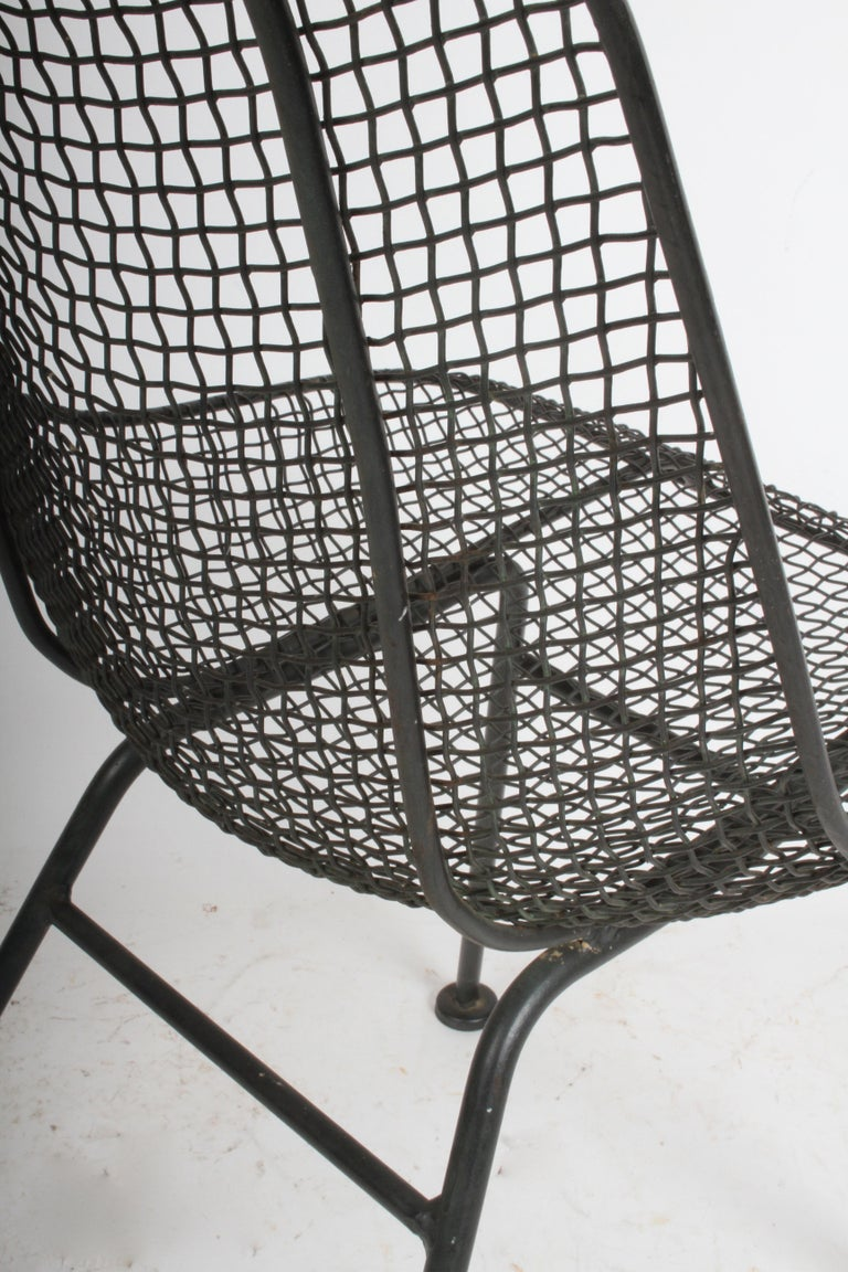 Set of Four Russell Woodard Sculptura Mesh Dining Side Chairs For Sale 1