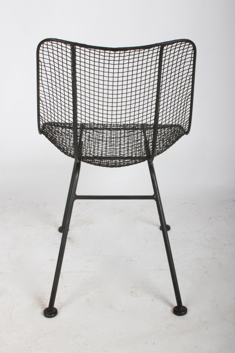 Set of Four Russell Woodard Sculptura Mesh Dining Side Chairs For Sale 2