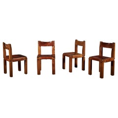 Set of Four S11 Chairs by Pierre Chapo