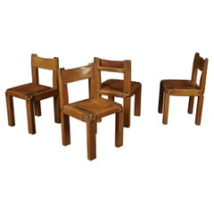 Set of Four S11 Chairs by Pierre Chapo, France, circa 1960