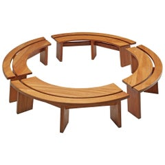 Set of Four 'S38A' Benches by Pierre Chapo