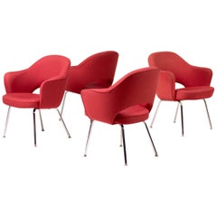 Set of Four Saarinen Executive Armchairs by Knoll International