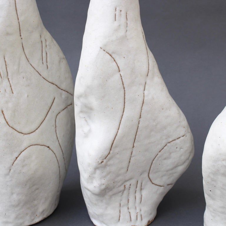 Set of Four Sassi 'Grès' Vases by Bruno Gambone, circa 1980s For Sale 8
