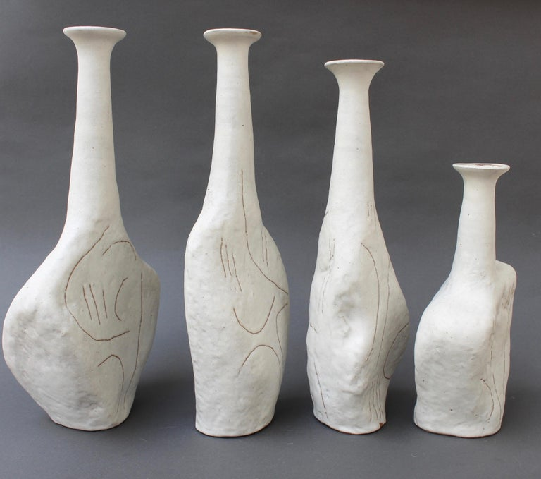 Set of Four Sassi 'Grès' Vases by Bruno Gambone, circa 1980s For Sale 10