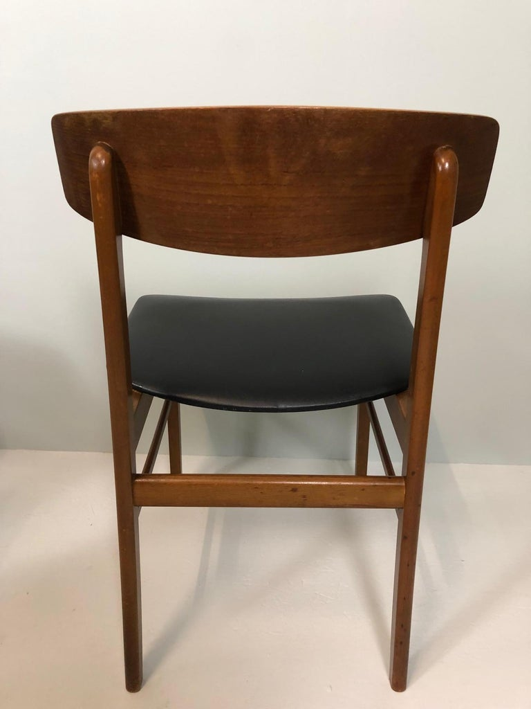 Mid-20th Century Set of Four Sax Denmark Teak Dinning Chairs, 1960 For Sale