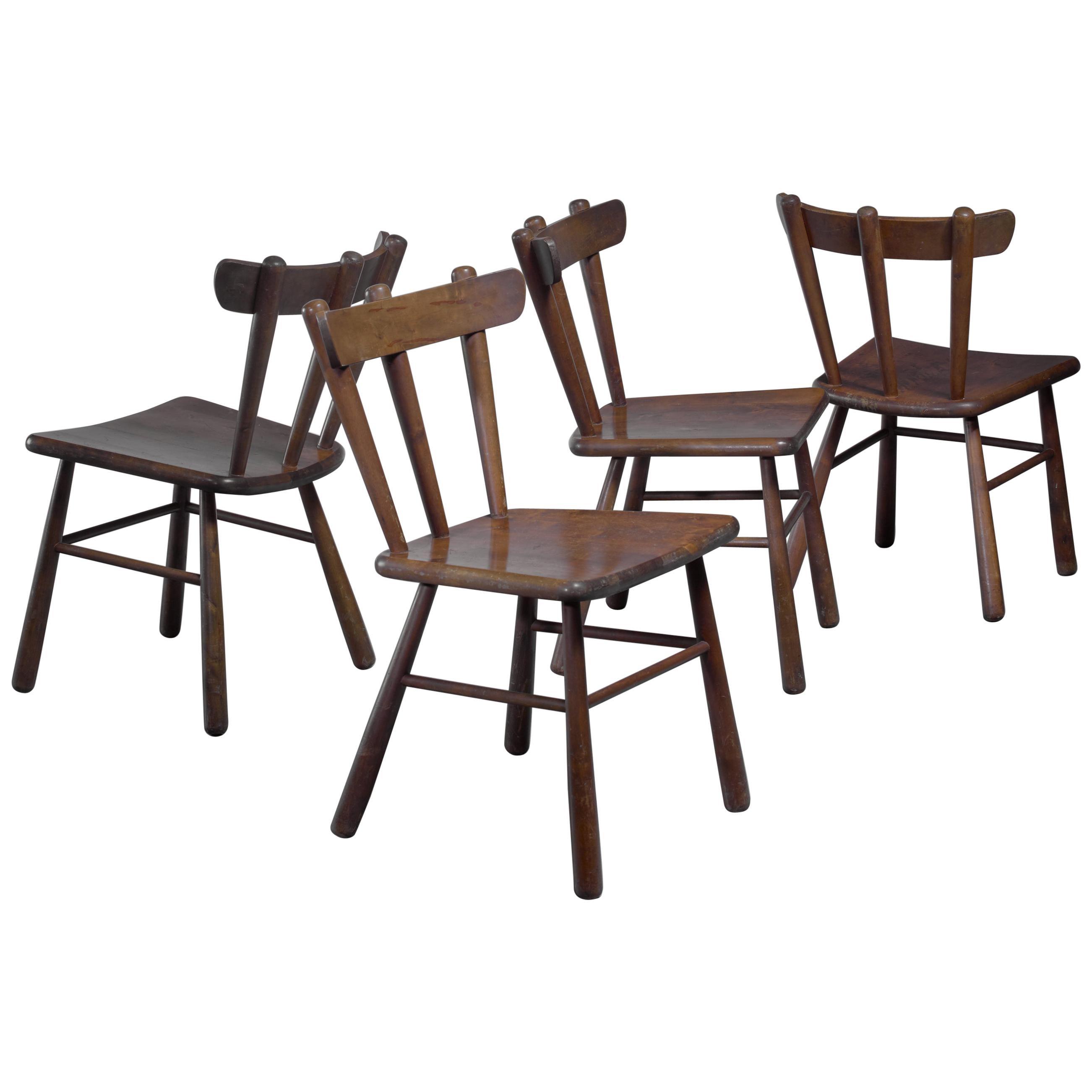 Set of Four Scandinavian Dining Chairs