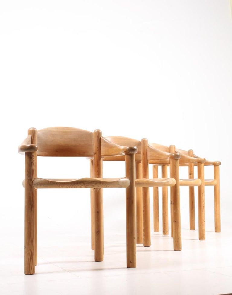 Scandinavian Modern Set of Four Scandinavian Dining Chairs in Pine by Rainer Daumiller For Sale