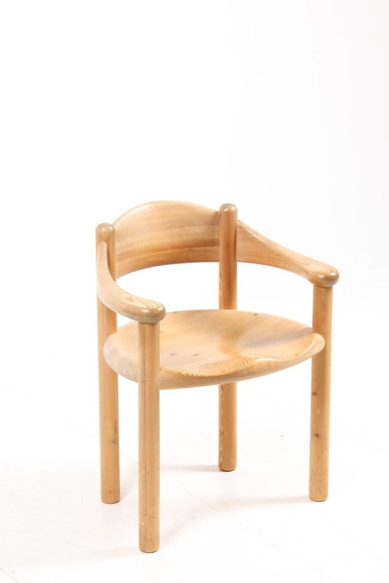 Danish Set of Four Scandinavian Dining Chairs in Pine by Rainer Daumiller For Sale