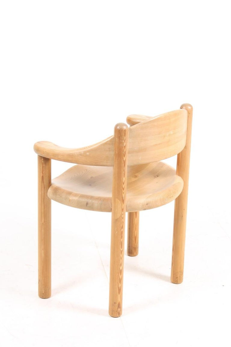 Set of Four Scandinavian Dining Chairs in Pine by Rainer Daumiller In Good Condition For Sale In Lejre, DK