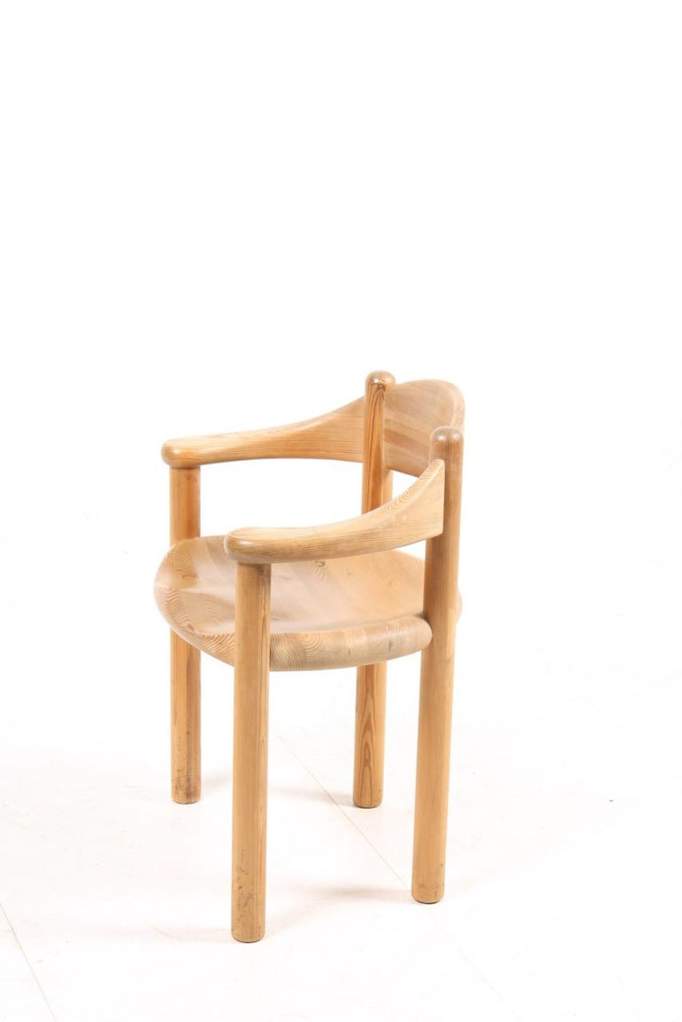 Mid-20th Century Set of Four Scandinavian Dining Chairs in Pine by Rainer Daumiller For Sale