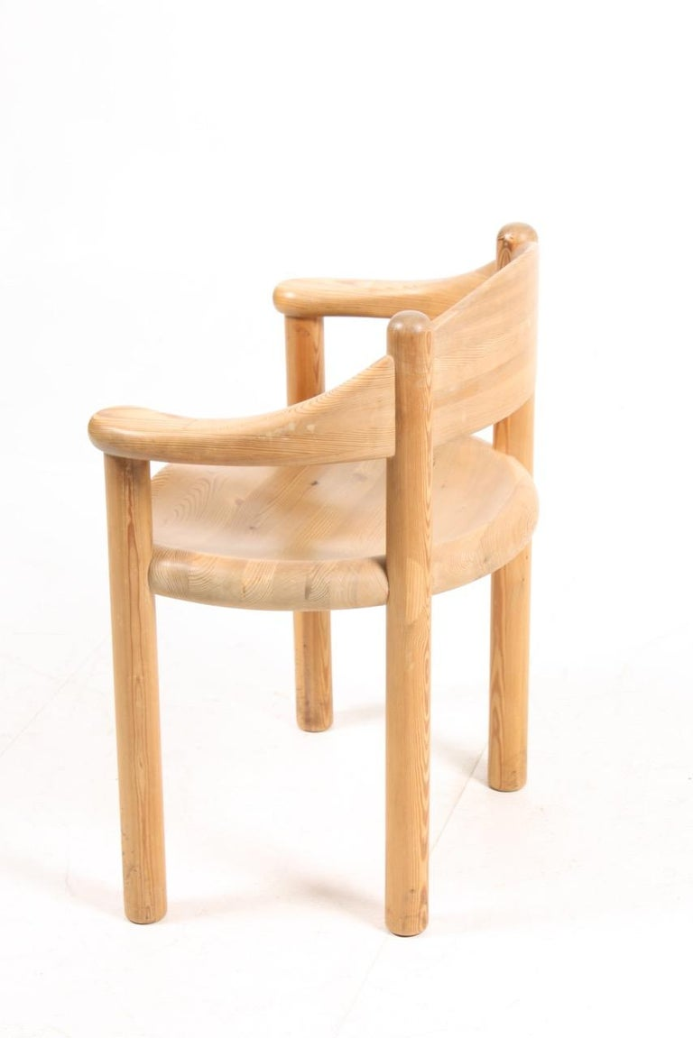 Set of Four Scandinavian Dining Chairs in Pine by Rainer Daumiller For Sale 1
