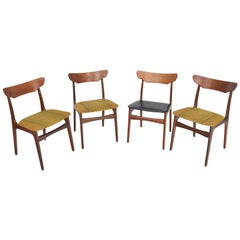 Set of Four Schionning and Elgaard Danish Teak Dining Chairs