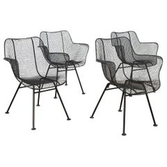 Set of Four Sculptura Patio Chairs by Russell Woodard