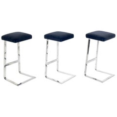 Set of Four Seasons Bar Stools by Mies van der Rohe by Gratz
