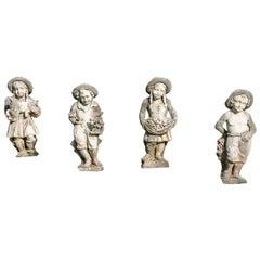Set of Four Seasons Figures Vincenza Stone