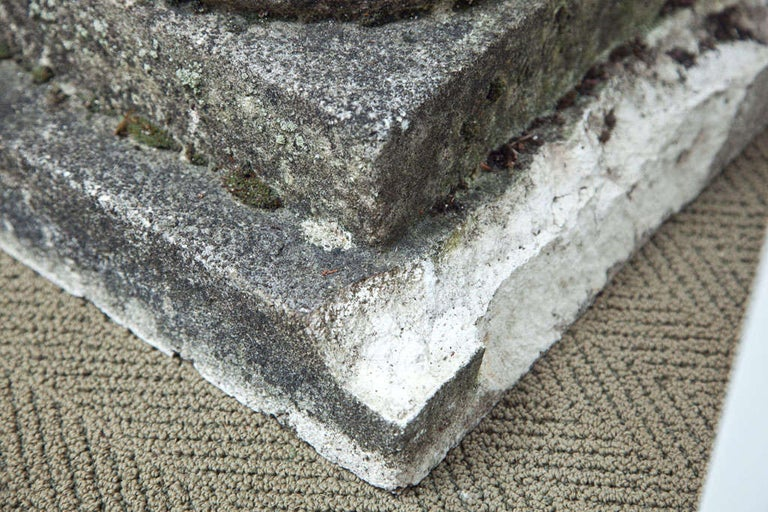 Set of Four Semi Lobed Cement Urns For Sale 5